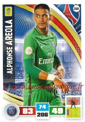 2016-17 - Panini Adrenalyn XL Ligue 1 - N° 300 - Alphone AREOLA Paris Saint-Germain)