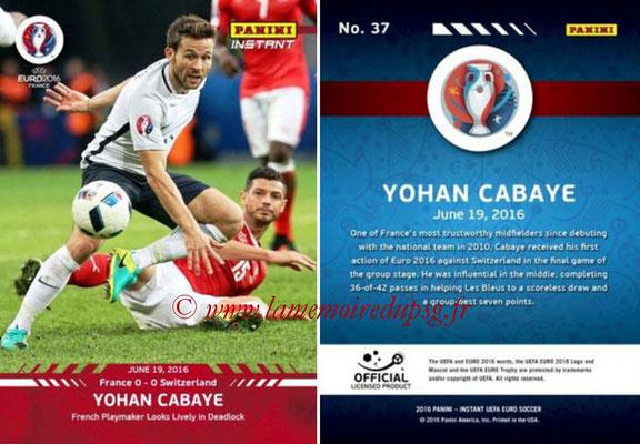 Panini Instant Euro 2016 - N° 037 - Yohan CABAYE