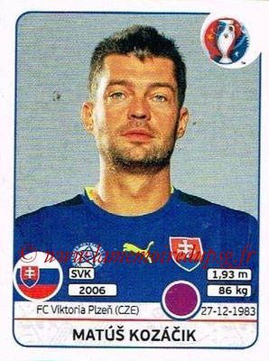 Panini Euro 2016 Stickers - N° 213 - Matus KOZACIK (Slovénie)