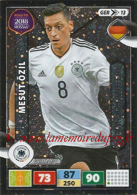 2018 - Panini Road to FIFA World Cup Russia Adrenalyn XL - N° GER13 - Mesut ÖZIL (Allemagne) (Game Changer)