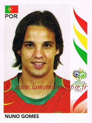 2006 - Panini FIFA World Cup Germany Stickers - N° 299 - Nuno GOMES (Portugal)