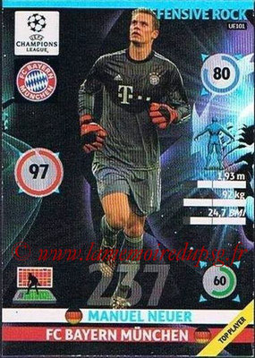 2014-15 - Adrenalyn XL champions League Update edition N° UE101 - Manuel NEUER (Bayern Munich) (Defensive Rock)