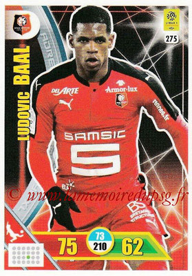 2017-18 - Panini Adrenalyn XL Ligue 1 - N° 275 - Ludovic BAAL (Rennes)