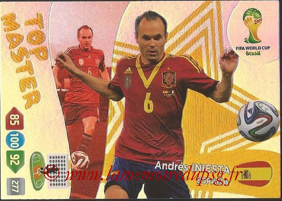 2014 - Panini FIFA World Cup Brazil Adrenalyn XL - N° 410 - Andres INIESTA (Espagne) (Top Master)