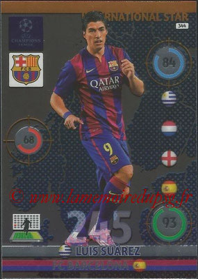 2014-15 - Adrenalyn XL champions League N° 344 - Luis SUAREZ (FC Barcelona) (International Star)