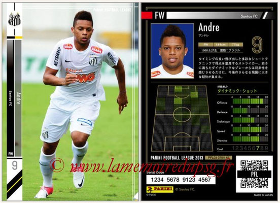 Panini Football League 2013 - PFL03 - N° 079 - Andre (FC Santos)