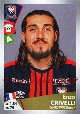2017-18 - Panini Ligue 1 Stickers - N° T11 - Enzo CRIVELLI (Caen) (Transfert)