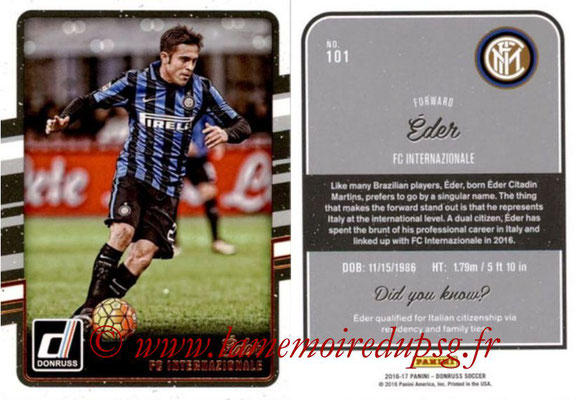2016 - Panini Donruss Cards - N° 101 - EDER (FC Internazionale)