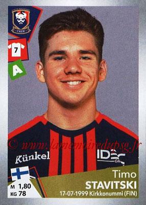 2017-18 - Panini Ligue 1 Stickers - N° T12 - Timo STAVITSKI (Caen) (Transfert)