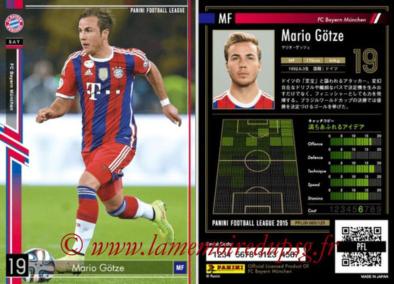 Panini Football League 2015 - PFL09 - N° 085 - Mario GÖTZE (Bayern Munich)
