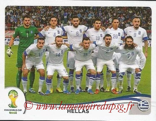 2014 - Panini FIFA World Cup Brazil Stickers - N° 204 - Equipe Grèce