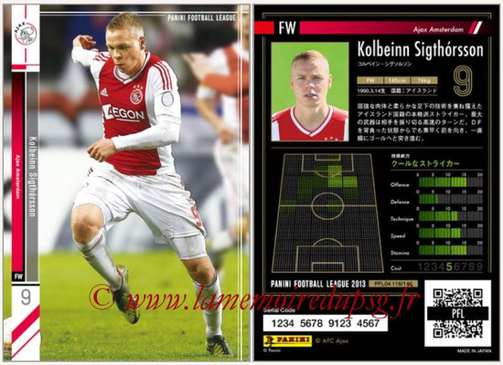 Panini Football League 2013 - PFL04 - N° 118 - Kolbeinn SIGTHORSSON (Ajax Amsterdam)
