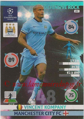 2014-15 - Adrenalyn XL champions League N° 297 - Vincent KOMPANY (Manchester City FC) (Defensive Rock)