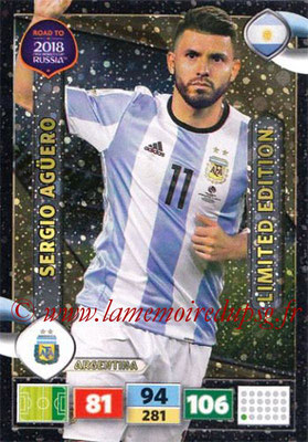 2018 - Panini Road to FIFA World Cup Russia Adrenalyn XL - N° LE-SA - Sergio AGÜERO (Argentine) (Limited Edition)