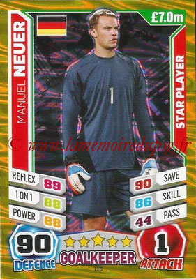Topps Match Attax England 2014 - N° 116 - Manuel NEUER (Allemagne) (Star Player)