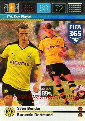 2015-16 - Panini Adrenalyn XL FIFA 365 - N° 176 - Sven BENDER (Borussia Dortmund) (Key Player)