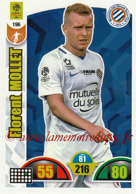 2018-19 - Panini Adrenalyn XL Ligue 1 - N° 196 - Florent MOLLET (Montpellier)