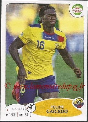 2014 - Panini Road to FIFA World Cup Brazil Stickers - N° 200 - Felipe CAICEDO (Equateur)