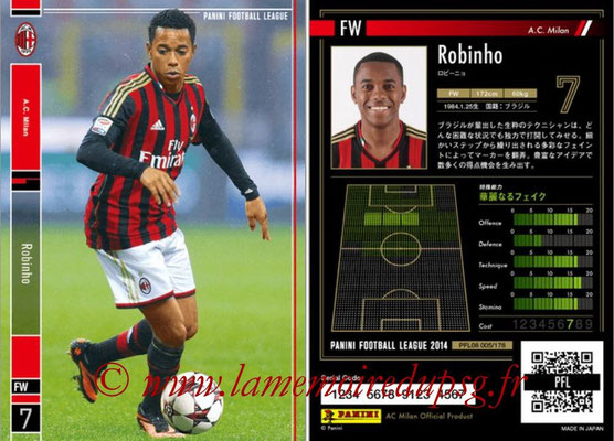 Panini Football League 2014 - PFL08 - N° 005 - ROBINHO (Milan AC)