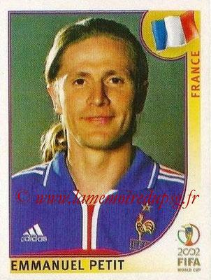 2002 - Panini FIFA World Cup Stickers - N° 034 - Emmanuel PETIT (France)