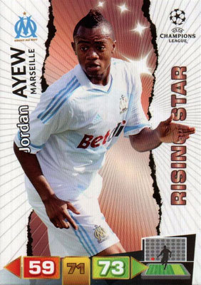 2011-12 - Panini Champions League Cards - N° 200 - Jordan AYEW (Olympique de Marseille) (Risingt Star)