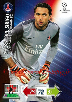 2012-13 - Adrenalyn XL champions League N° 205 - Salvatore SIRIGU (Paris Saint-Germain)