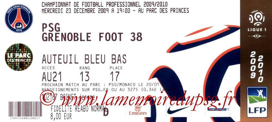 Tickets  PSG-Grenbole  2009-10