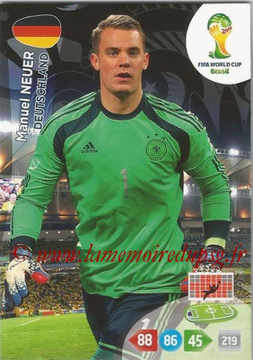 2014 - Panini FIFA World Cup Brazil Adrenalyn XL - N° 104 - Manuel NEUER (Allemagne)