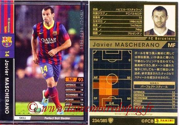 2013-14 - WCCF - N° 234 - Javier MASCHERANO (FC Barcelone)