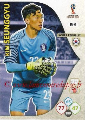 2018 - Panini FIFA World Cup Russia Adrenalyn XL - N° 199 - Kim SEUNGGYU (Corée du Sud)