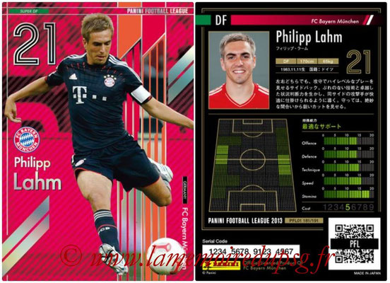 Panini Football League 2013 - PFL01 - N° 181 - Philipp Lahm ( FC Bayern Munchen ) (Super DF)