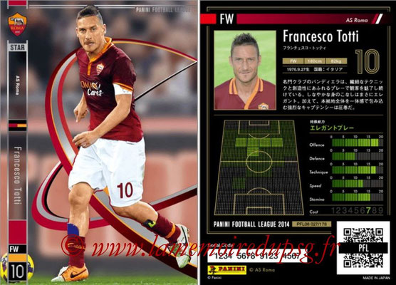 Panini Football League 2014 - PFL08 - N° 027 - Francesco TOTTI (AS Rome) (Star)