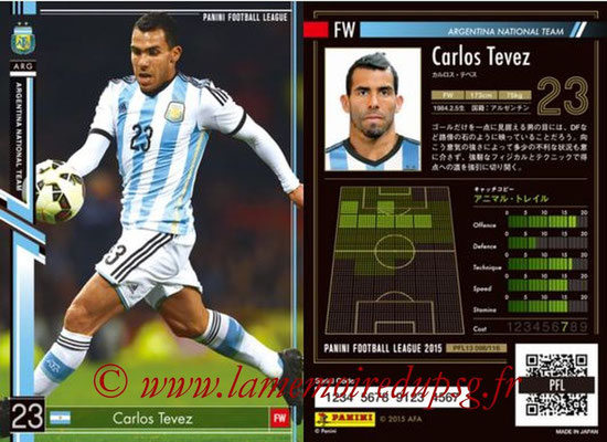 Panini Football League 2015 - PFL13 - N° 098 - Carlos TEVEZ (Argentine)