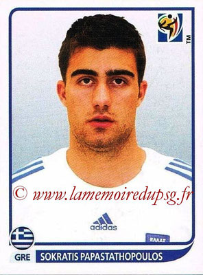 2010 - Panini FIFA World Cup South Africa Stickers - N° 168 - Sokratis PAPASTATHOPOULOS (Grèce)