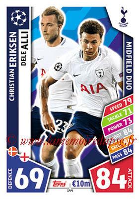 2017-18 - Topps UEFA Champions League Match Attax - N° 144 - Christian ERIKSEN + Dele ALLI (Tottenham Hotspur) (Midfield Duo)