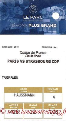 Tickets  PSG-Strasbourg  2018-19