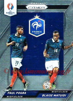 Euro 2016 Panini Prizm - N° CCD-02 - Paul POGBA + Blaise MATUIDI (France) (Country Combinaions Duals)