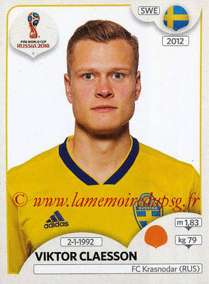 2018 - Panini FIFA World Cup Russia Stickers - N° 485 - Viktor CLAESSON (Suede)