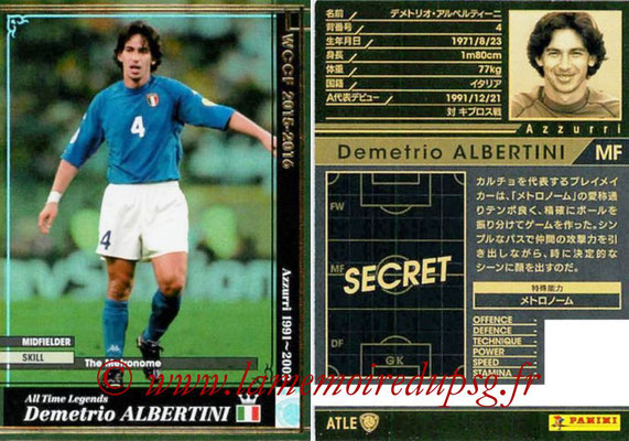 2015-16 - Panini WCCF - N° ATLE04 - Demetrio ALBERTINI (Italie) (All Time Legends)