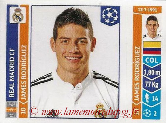 2014-15 - Panini Champions League N° 116 - James RODRIGUEZ (Real Madrid FC)
