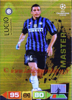 2011-12 - Panini Champions League Cards - N° 336 - LUCIO (Inter Milan) (Master)