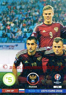Panini Road to Euro 2016 Cards - N° 178 - Equipe Russie 1