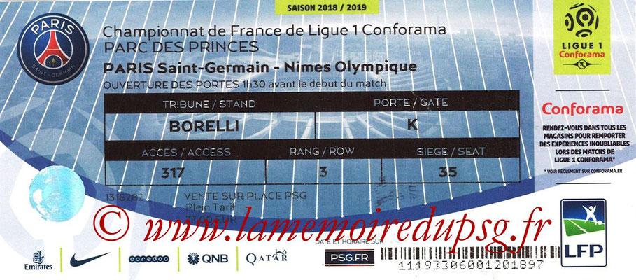 Tickets  PSG-Nîmes  2018-19