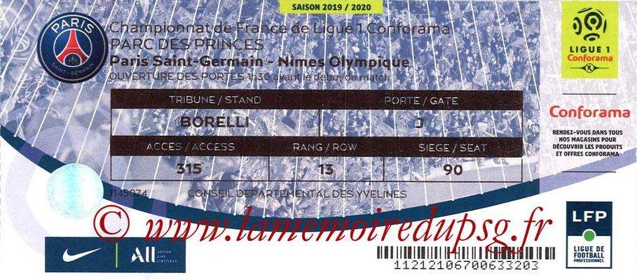 Tickets  PSG-Nimes  2019-20
