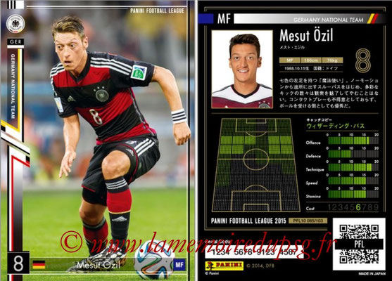 Panini Football League 2015 - PFL10 - N° 085 - Mesut ÖZIL (Allemagne)