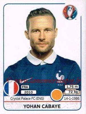 Panini Euro 2016 Stickers - N° 029 - Yohan CABAYE (France)