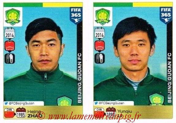 2015-16 - Panini FIFA 365 Stickers - N° 254-255 - Hejing ZHAO + Yunqiu LI (Beijing Guoan FC)