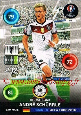 Panini Road to Euro 2016 Cards - N° 059 - André SCHURRLE (Allemagne)