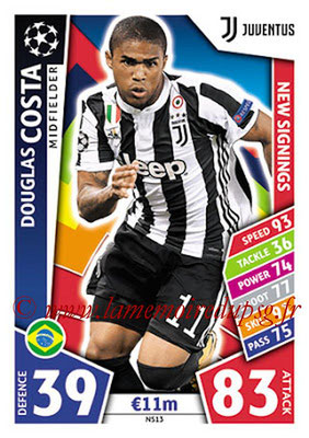 2017-18 - Topps UEFA Champions League Match Attax - N° NS13 - Douglas COSTA (Juventus) (New Signings)