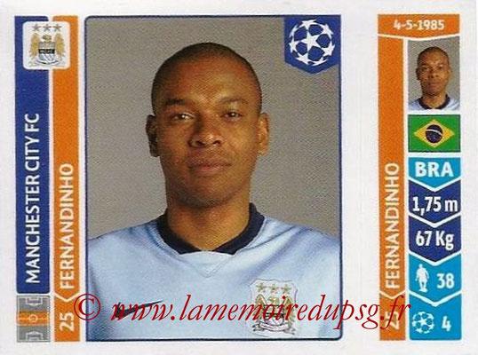 2014-15 - Panini Champions League N° 377 - FERNANDINHO (Manchester City FC)